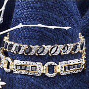 Sapphire Marquise Bracelet With Diamond Accents