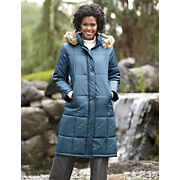 Womens Quilted Hooded Full Coverage Coat By Totes