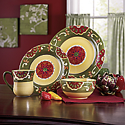 16 pc Hand painted Grand Baja Dinnerware Set