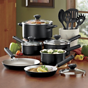 14 pc Cooks View Nonstick Aluminum Cookware Set With 10 Rebate By Farberware