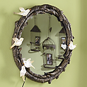 faux twig and branch mirror