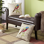 bunting bird accent pillow