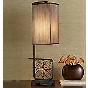Iridescent Bling Flower Buffet Lamp