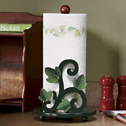 Green Leaf Paper Towel Holder