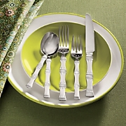 20 piece Bamboo Frost Flatware Set