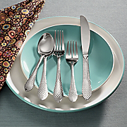 20 piece Hammered Mirror Flatware Set