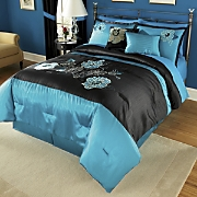 Marianne 10 pc embroidered And Appliqued Bed Set and Window Treatments