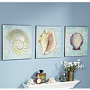 set of 3 into the sea wall prints