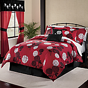Kiku Blossom Bed Set Valance And Panel Pair