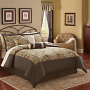 Lancaster 7 pc Bed Set Valance And Panel Pair