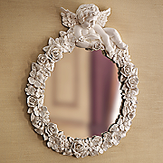 Love And Protection Cherub Mirror