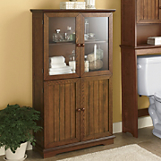 Oak finish Towel Cabinet