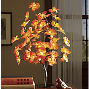 lit feng shui flower tree
