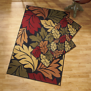 Oversized Leaf 3 pc Rug Set