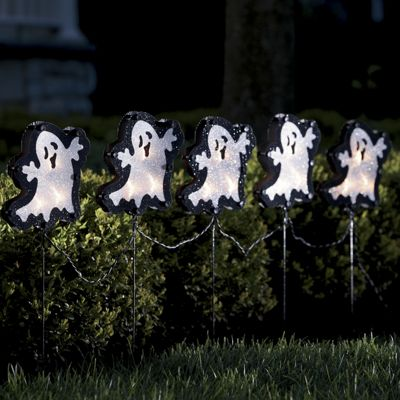 5 pc Light up Ghost Stakes