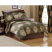 4 pc Comforter Set Pillow Valance Panel Pair