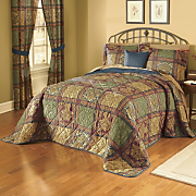 3 pc Bedspread Set Valance Panel Pair Pillow