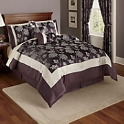 6 pc Comforter Set Valance And Panel Pair
