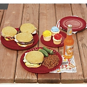 Melamine Dinner and Salad Plates