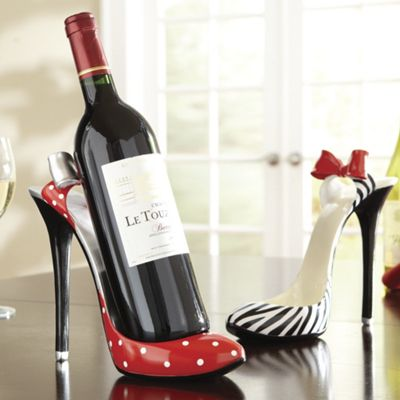 high heel wine holder