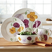 16 pc Poppy Abundance Dinnerware