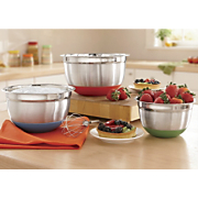 Set Of 3 Stainless Steel Mixing Bowls