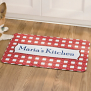 Personalized Red Gingham Mat