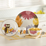 16 pc Hoot n nanny Owl Dinnerware