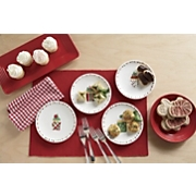 Set Of 4 Merry Cupcakes Cocktail Plates