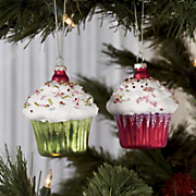 Set Of 2 Cupcake Ornaments