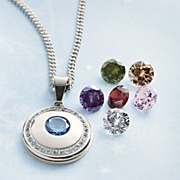 Interchangeable Crystal Pendant