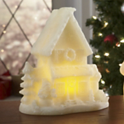 Flameless Glitter House Candle