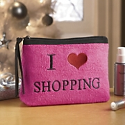I Heart Shopping Cosmetic Bag