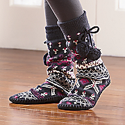 Ornamental Slipper Socks By Mukluks