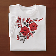 Ginnys Red Rose Tee