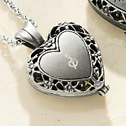 Personalized Heart Memory Pendant