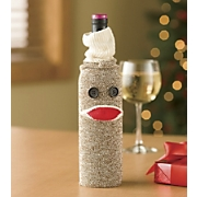 Wine Bottle Sock Monkey