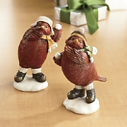 Set Of 2 Snowball Fighting Cardinals