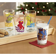 Set Of 4 Sesame Street Pint Glasses