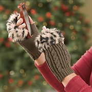Fingerless Faux Fur Cuff Gloves