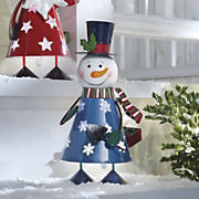 Solar Snowman Bobble Light
