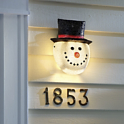 Snowman Porch Light Cover