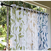escape leaf sheer grommet panel