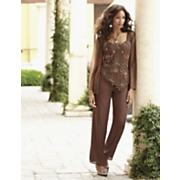 Copper Beaded Pant Set
