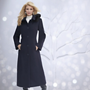 Hooded Long Wool Blend Coat