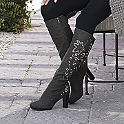 Embroidered Flannel Boot By Midnight Velvet