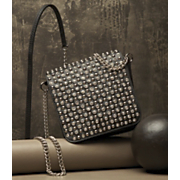 Leather Rhinestone Bag