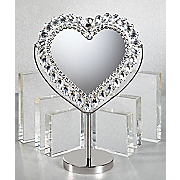Crystal Heart Mirror