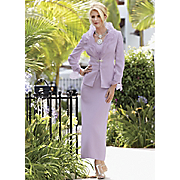 Charming Lilac Organza Trim Suit