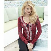 Sequin Animal Cardigan